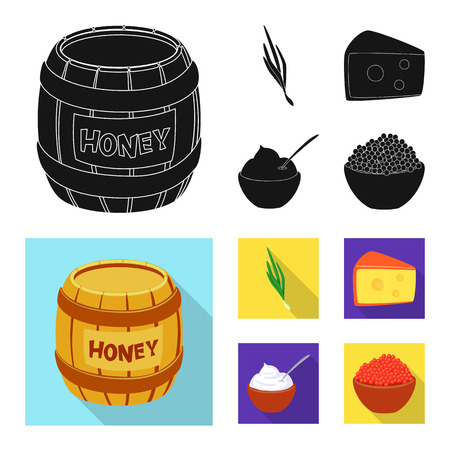 Vector illustration of taste and product icon. Set of taste and cooking vector icon for stock. Иллюстрация