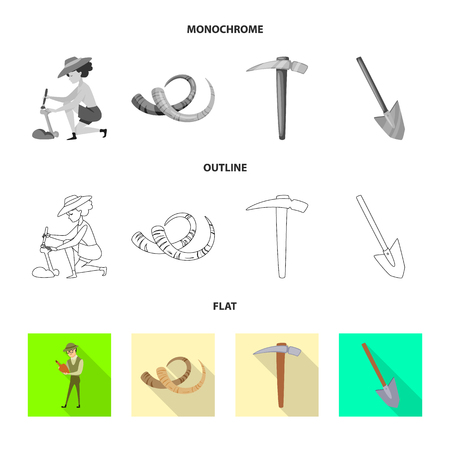 Vector illustration of story and items symbol. Set of story and attributes  stock symbol for web. Vectores