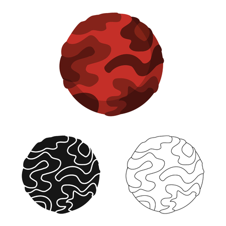 Vector illustration of planet  and mars icon. Set of planet  and gravity  vector icon for stock.