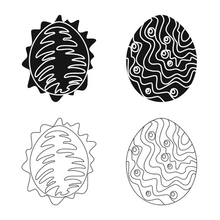 Vector illustration of animal and prehistoric icon. Set of animal and cute vector icon for stock. Vettoriali