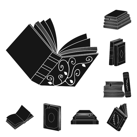 Isolated object of illustration and information logo. Collection of illustration and bookstore vector icon for stock.