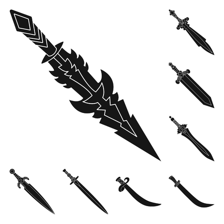 Vector illustration of sharp and blade  logo. Set of sharp and dagger  vector icon for stock. Ilustração