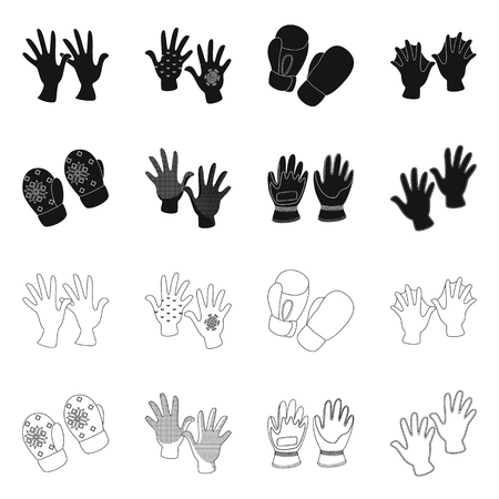 Vector design of silhouette and safety sign. Set of silhouette and comfort vector icon for stock.  イラスト・ベクター素材