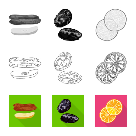 Vector design of food  and raw  symbol. Collection of food  and nature   stock vector illustration.