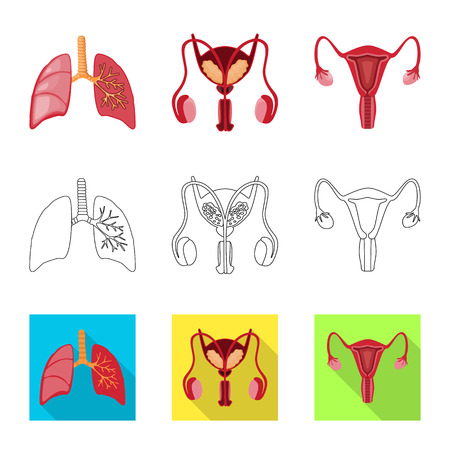Vector illustration of biology and scientific logo. Collection of biology and laboratory vector icon for stock.