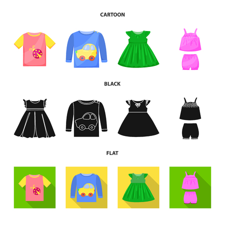 Isolated object of fashion and garment logo. Collection of fashion and cotton vector icon for stock. Ilustração