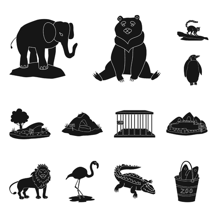 Vector design of fauna and entertainment logo. Set of fauna and park stock vector illustration. 写真素材 - 121220481