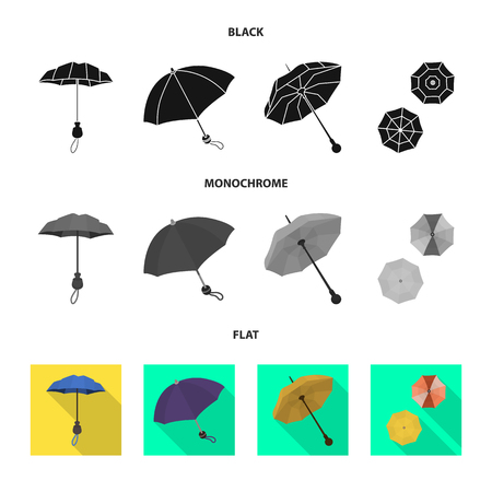 Isolated object of protection and closed icon. Set of protection and rainy vector icon for stock.