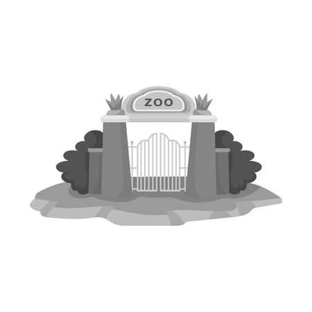 Isolated object of gate  and arch sign. Set of gate  and wall vector icon for stock. Ilustrace