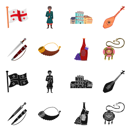 Isolated object of culture and sightseeing symbol. Set of culture and originality stock symbol for web.