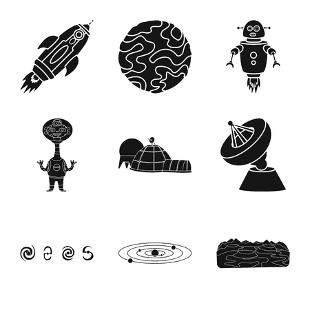Isolated object of colonization and sky icon. Collection of colonization and galaxy stock vector illustration.