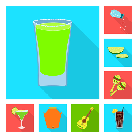 Isolated object of party and celebration logo. Set of party and Latin vector icon for stock.