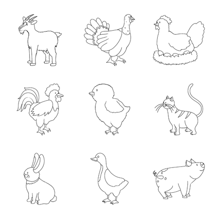 Isolated object of homemade and countryside sign. Collection of homemade and agriculture stock symbol for web. Illustration