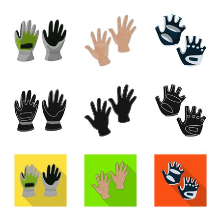 Vector design of silhouette and safety symbol. Set of silhouette and comfort vector icon for stock. Stock fotó - 123124536