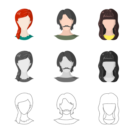 Vector illustration of professional and photo symbol. Collection of professional and profile stock symbol for web.