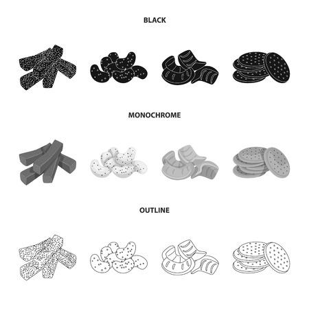 Vector design of Oktoberfest and bar symbol. Collection of Oktoberfest and cooking stock vector illustration.