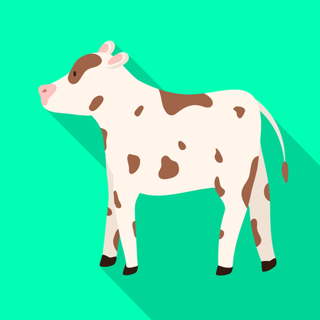 Isolated object of cow and heifer symbol. Collection of cow and milk stock vector illustration. Ilustração