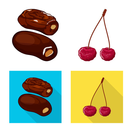 Isolated object of food  and raw. Set of food  and nature   stock symbol for web. Stok Fotoğraf - 121361796