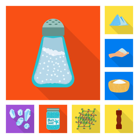 Vector illustration of raw and kitchen icon. Collection of raw and sea vector icon for stock.