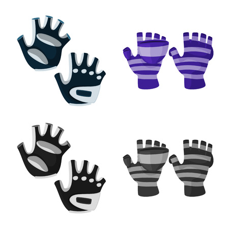 Vector design of silhouette and safety symbol. Set of silhouette and comfort stock symbol for web. Stock fotó - 123079692