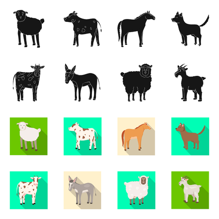Vector design of breeding and kitchen  icon. Collection of breeding and organic  stock symbol for web.