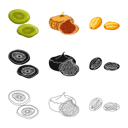 Isolated object of food  and raw  icon. Collection of food  and nature   vector icon for stock. Ilustração
