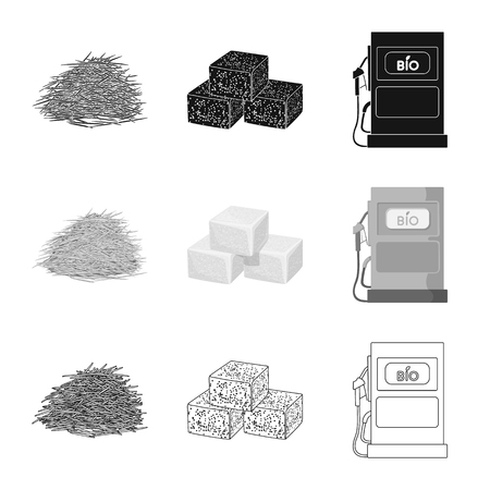 Isolated object of farm and agriculture  symbol. Set of farm and technology vector icon for stock.