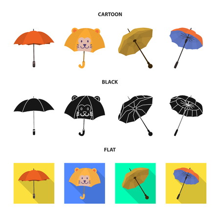Vector design of protection and closed sign. Collection of protection and rainy vector icon for stock.