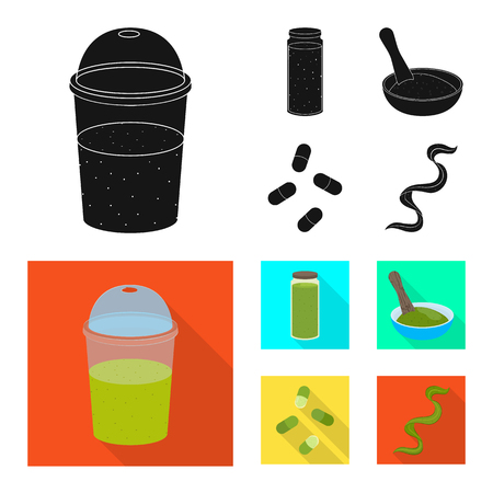 Isolated object of protein and sea icon. Set of protein and natural stock vector illustration. 일러스트