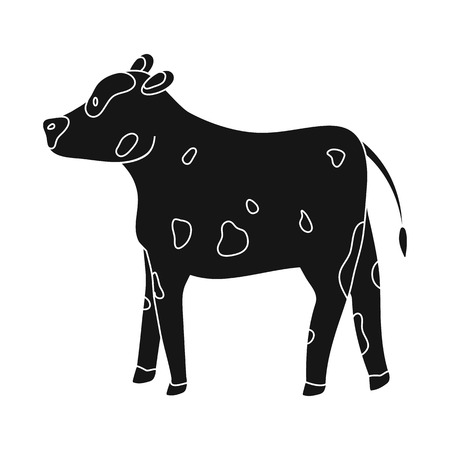 Isolated object of cow and heifer sign. Collection of cow and milk stock symbol for web.