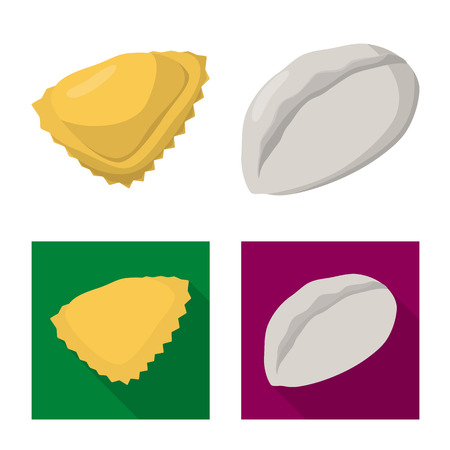 Vector design of products  and cooking logo. Collection of products  and appetizer stock symbol for web. Illustration