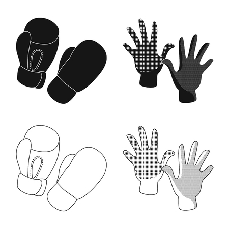 Vector illustration of silhouette and safety symbol. Collection of silhouette and comfort stock vector illustration.