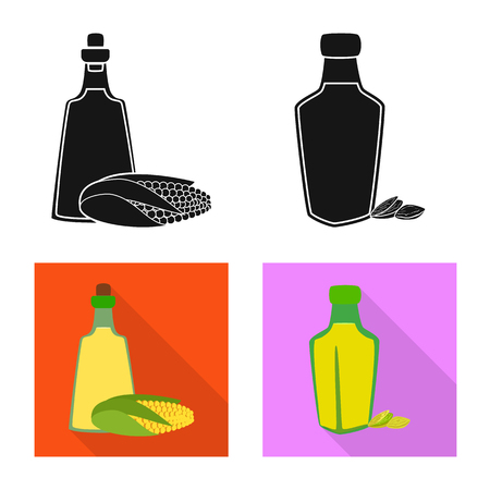 Isolated object of healthy  and vegetable  symbol. Collection of healthy  and agriculture vector icon for stock.