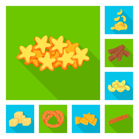 Vector design of Oktoberfest and bar icon. Set of Oktoberfest and cooking stock vector illustration. Illustration