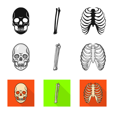 Vector design of medicine and clinic icon. Collection of medicine and medical stock symbol for web.