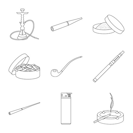 Isolated object of health and nicotine sign. Collection of health and statistics vector icon for stock.