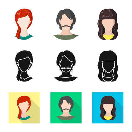 Vector illustration of professional and photo symbol. Set of professional and profile stock vector illustration.