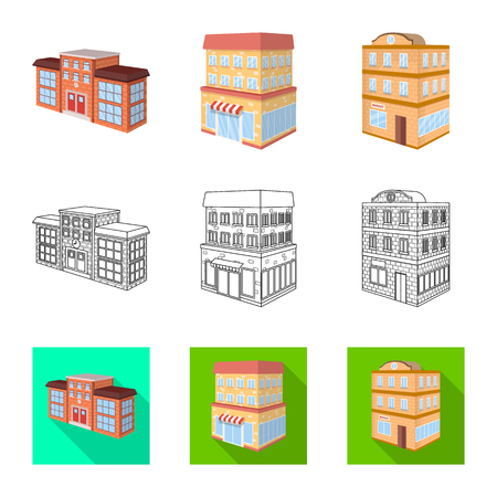 Vector design of construction and building symbol. Collection of construction and estate vector icon for stock.