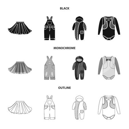 Vector design of fashion and garment icon. Collection of fashion and cotton vector icon for stock.