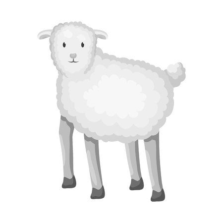 Vector illustration of sheep and anima sign. Collection of sheep and lamb stock symbol for web.