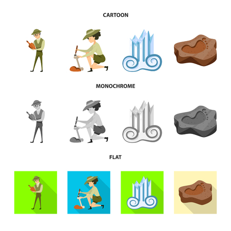 Isolated object of story and items sign. Set of story and attributes  stock symbol for web.