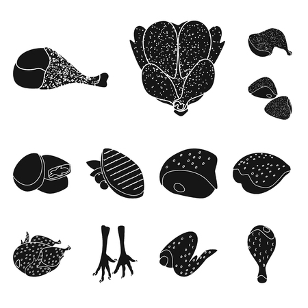 Isolated object of restaurant and agriculture. Collection of restaurant and raw vector icon for stock.