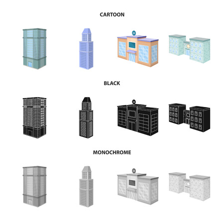 Isolated object of construction and building icon. Collection of construction and estate vector icon for stock. Stock Illustratie