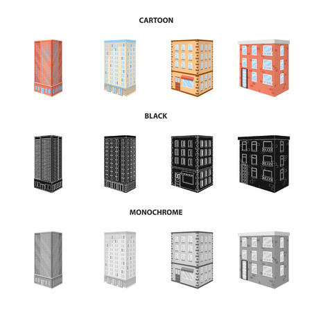 Vector illustration of construction and building icon. Collection of construction and estate stock vector illustration. Stock Illustratie