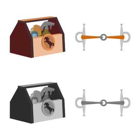 Vector illustration of equipment and riding icon. Collection of equipment and competition vector icon for stock.