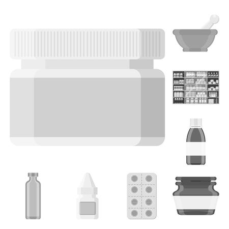 Isolated object of medicine and health logo. Set of medicine and help vector icon for stock. Ilustrace