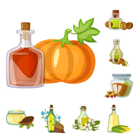 Vector design of bottle and glass  sign. Set of bottle and agriculture stock vector illustration.