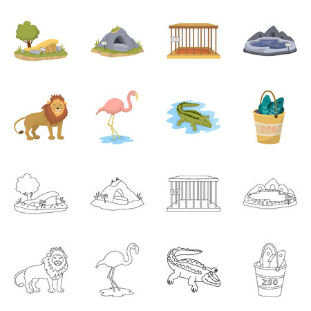 Vector illustration of nature  and fun  logo. Collection of nature  and entertainment vector icon for stock.  イラスト・ベクター素材