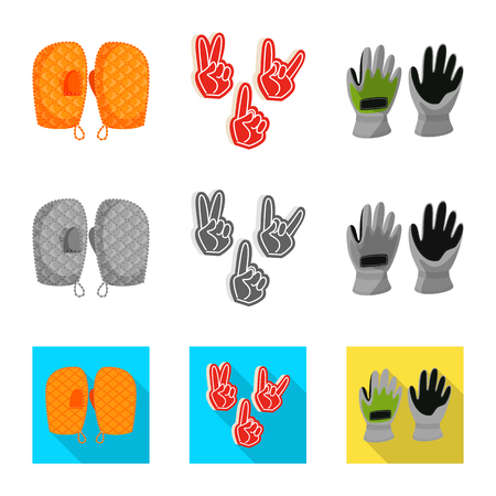 Vector illustration of silhouette and safety icon. Collection of silhouette and comfort stock vector illustration. Stock fotó - 122902880