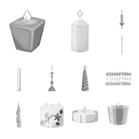 Isolated object of paraffin and fire  icon. Collection of paraffin and decoration    stock symbol for web.